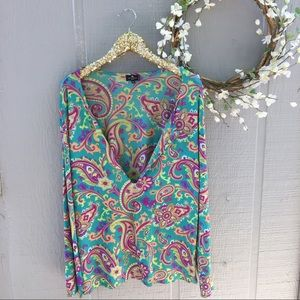 Etro paisley print blouse. Made in Italy. Medium.
